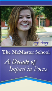 Brittany Coats - The McMaster School - A Decade of Impact in Focus Banner