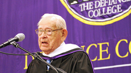 Randall Buchman speaking at commencement