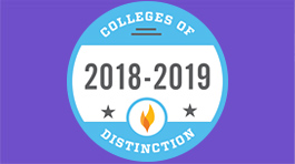 Colleges of Distinction logo 2018 - 2019