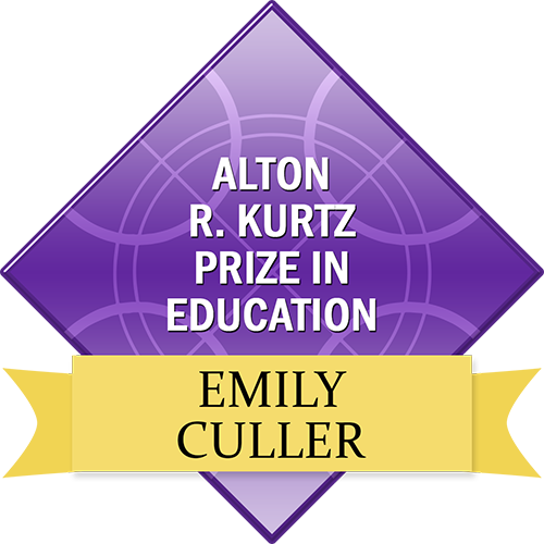 Alton R. Kurtz Prize in Education: Emily Culler
