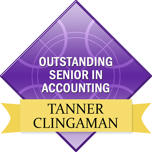 Outstanding Senior in Accounting: Tanner Clingaman