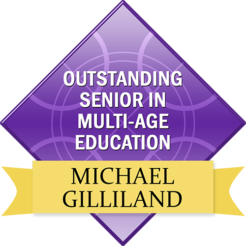 Outstanding Senior in Multi-Age Education: Michael Gilliland