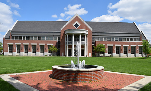 Serrick Center building on the Defiance College campus
