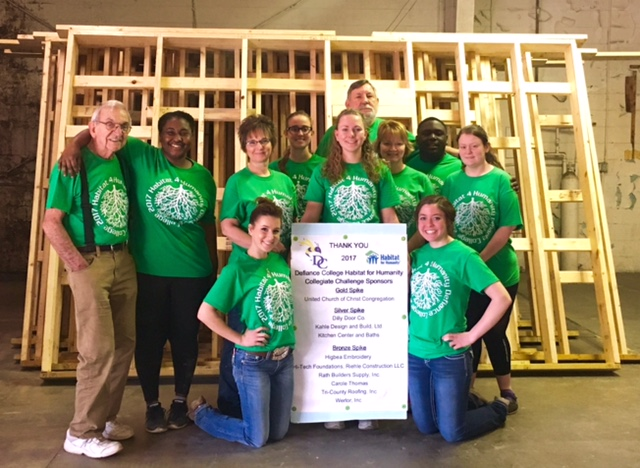 Pictured left to right, front row, Tara Lymanstall and Emily Culler; second row, Bill Giardini of Habitat for Humanity, Robyn Boyd, Judy Lymanstall, Katarina Wicher, Kerry Rosebrook and Emily Lambert; and back row, Kiana Carpenter, Dan Pate of Habitat for Humanity, and Xavier Blyden.