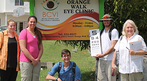 McMaster group at Belize for vision screenings